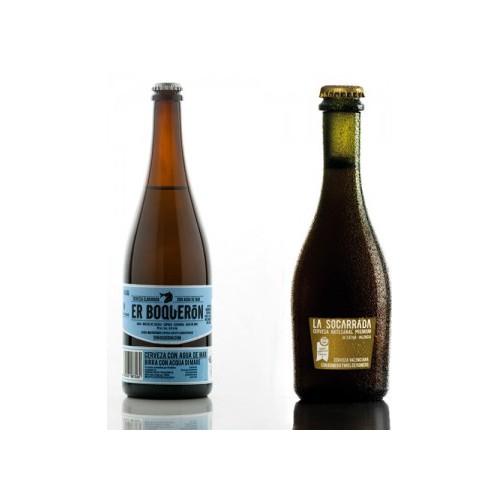 Pack 8 cervezas 75 cl La Socarrada y Er Boquerón